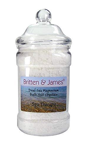 Britten & James Dead Sea Magnesio sale da bagno in scaglie 1,5 kg - naturalmente lenitivo e terapeutico terapia termale