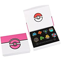 8Pcs/Box Pokemon Hall Roads Badge Brooch Pocket Monster Action Figures Metal Pin - Style A