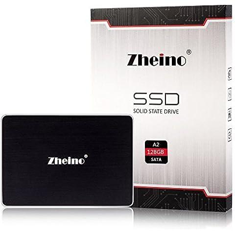 Zheino A2 2,5 pollici SATA III 6Gb / s SSD da 128GB (7mm) Solid State Drive per il computer portatile da tavolo con 256M Cache (MLC not TLC Flash)