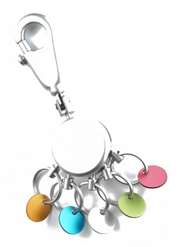 troika-porte-cles-patent-chrome-brillant-design-rond-et-colore-5-anneaux-interchangeables