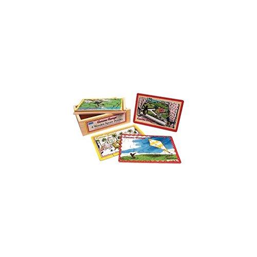 Curious George: 4-in-1 Jigsaw Puzzle (Coco der Affe) Kinder Puzzle 4 in 1 - aus - Affe Der George Spielzeug