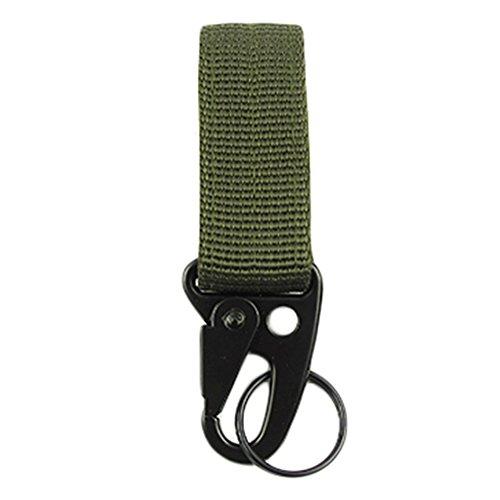 Cintura in nylon Hanging clip moschettone anello portachiavi in alluminio per esterni (Belt Hanger Portachiavi)