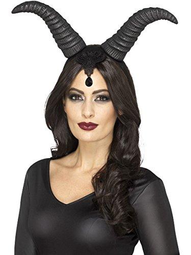 Dämonin Kostüm - Smiffys Kostüm Zubehör Haarreif Hörner Dämonin Teufelin Halloween