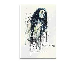 Bob marley 90 x 60 cm-aquarelle billigerLuxus kunstbild art tableau sur toile original paul sinus espèce unique