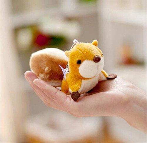 Interesting® Brown Mini kleines Eichhörnchen Plüsch Stofftier Schlüsselanhänger Saugnapf (Plüsch-eichhörnchen Große)