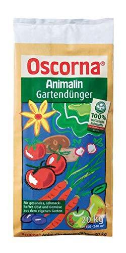 Oscorna Animalin Gartendünger 20 kg - Organischer Naturdünger für den Nutz- und Ziergarten. Für gesundes Pflanzenwachstum. Belebt den Boden.