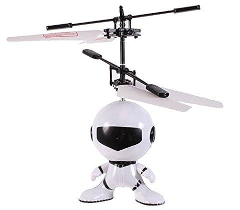 HUKITECH Fliegender Astronaut mit Infrarot Sensor - Handsteuerung / Akku / LED-Beleuchtung - Modernes HighTech RC Spielzeug Handgesteuert mit hohem Spaßfaktor