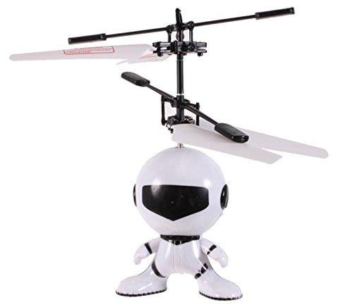 HUKITECH Fliegender Astronaut mit Infrarot Sensor - Handsteuerung / Akku / LED-Beleuchtung - Modernes HighTech RC Spielzeug Handgesteuert mit hohem (Kran Spiel Kostüm Halloween)