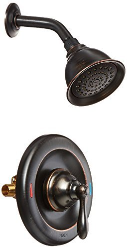 Moen 82495EPBRB Single Handle Posi-Temp Pressure Balanced Shower Trim, Mediterranean Bronze by Moen