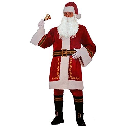 Premium Santa Claus Weihnachtsmann Kostüm + Perücke Bart ()