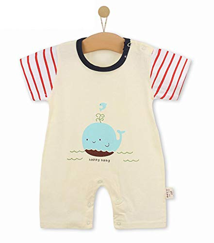 Unisex-Baby Infant Wide Short Sleeve Animal Cartoon Bodysuit Bodys BB@TZZ08HR-1318