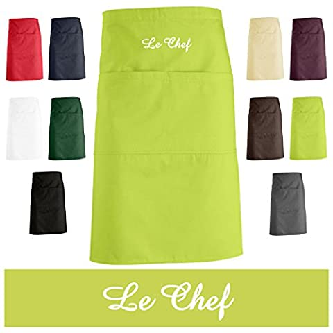'Schno Push Highly Embroidered Kitchen Apron, Apron, Apron with