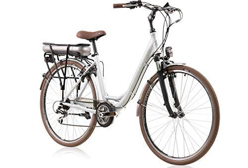 tretwerk DIREKT gute Räder Cloud 2.0 28 Zoll Damen E-Bike Citybike, Damen-Fahrrad 7 Gang Kettenschaltung