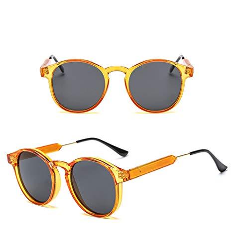 Wang-RX Sonnenbrille Frauen Runde Metallfuß Seide Damen Rundes Gesicht Retro Brille Sport Tourist Sammeln Sonnenbrille Uv400