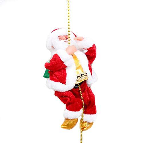 Zreal 1 pz scaletta da arrampicata elettrica babbo natale figurine di natale ornamento decorazione regali (1)