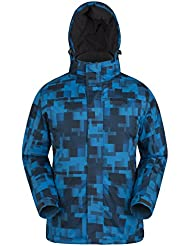 Mountain Warehouse Shadow Mens Printed Ski Jacket - Snowproof, Extra Warmth, Fleece Lined, Adjustable Hem, Cuff & Hood - Ideal To Keep You Comfortable In The Cold