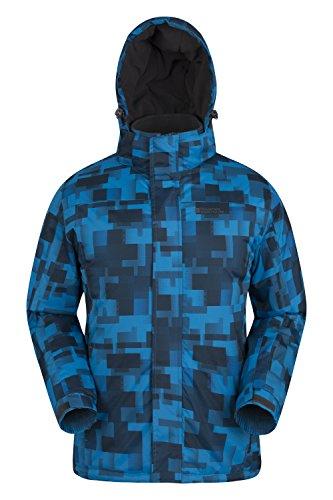 Mountain Warehouse Shadow Skijacke Herren mit Aufdruck Blau X-Small