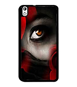 PrintDhaba Eye D-2977 Back Case Cover for HTC DESIRE 816 (Multi-Coloured)