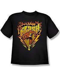 Das Flash Heiße Sohlen Jugend Kurzarm T-Shirt in Schwarz von DC Comics