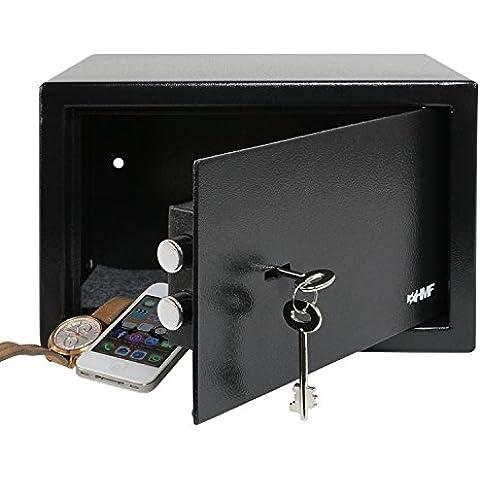 HMF 49200-02 Cassaforte a mobile, Serratura a doppia mappa, Cassaforte per albergo, 31,0 x 20,0 x 20,0 cm, di colore nero