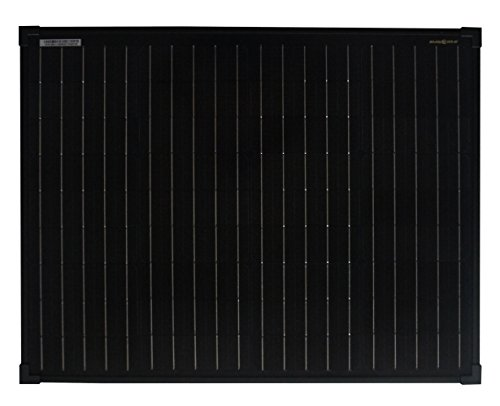 enjoysolar® Monokristallin 50Watt schwarz 12V Solarmodul Solarpanel Mono 50W Full Black ideal für Garten Wohnmobil Caravan