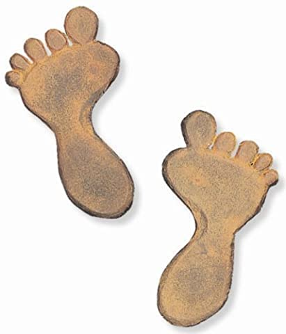Sunset Vista Designs Cast Iron Pair of Foot Prints Stepping Stones, 6.5