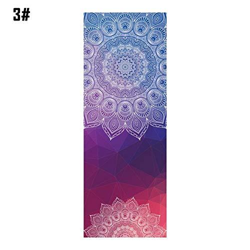 HYTGFR Mandola Print Yoga Decke Handtuch Diamant Textur Rutschfeste tragbare Reise Yoga Matte Handtuch Abdeckung Pilates Fitness , C