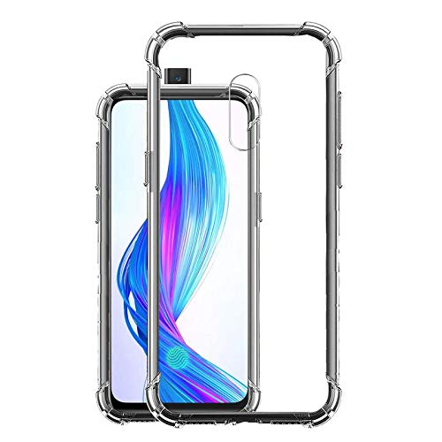 Hello Zone Soft Flexible Shockproof Bumper Transparent Back Case Cover for Realme X
