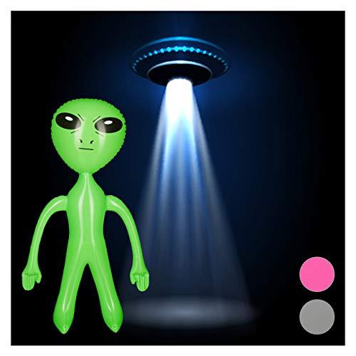 Relaxdays aufblasbares Alien, Marsmännchen Figur, Sci-Fi Party Deko, Karneval, Wasserspielzeug, Aufblasalien groß, ()