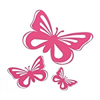 freshest Moppi Moppi Pink Butterfly Vinyl Car Graphics window Sticker Decal Decor