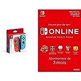Nintendo Switch Paire de manettes Joy-Con : droite bleu néon/gauche rouge néon + Switch Online 3 Mois [Download Code]