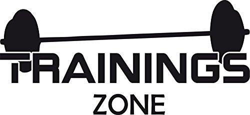 GRAZDesign 660255_40_070 Wandtattoo Trainings zone   Wand-Aufkleber für Deinen Sportbereich   Sportler- Motivation - Fitness - Fitnessraum (87x40cm//070 schwarz)