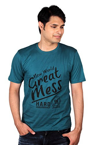 AI07- Mens Printed T Shirts - Drak Green- Large