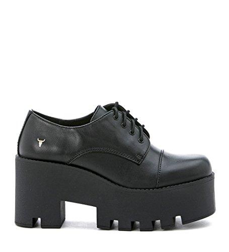 Windsor Smith Fame high platform outsole leather - black