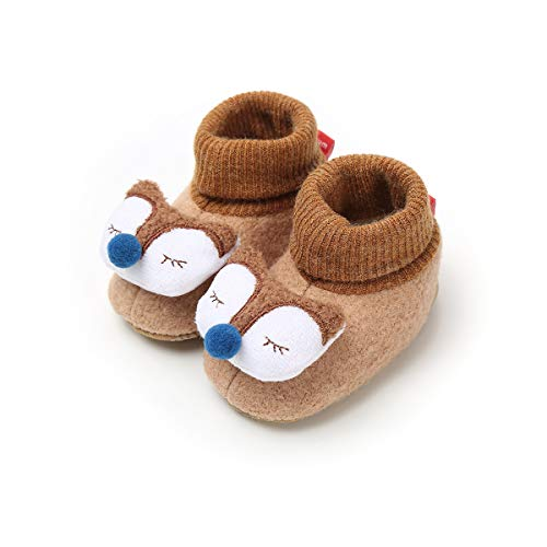 Sabe , Baby Jungen Krabbelschuhe & Puschen Beige beige 0-6 Monate, E-Brown - Größe: 0-6 Monate - 1 Hausschuhe Jungen Größe