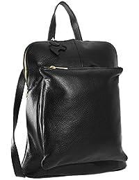Big Handbag Shop - Bolso mochila  de Piel para mujer Talla única