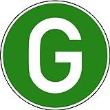 Aufkleber Fahrzeugkennzeichen grün/weiß