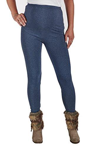 Jandaz® Standard- oder Winter-Leggings für Schwangere, volle Länge, Dreiviertel-Länge oder kurz, 95% Baumwolle, in vielen Farben erhältlich Winter Thick Denim