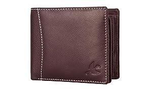 Hornbull Men's Olive Green Themes Geuine Leather RFID Wallet Valentine Gift for Men
