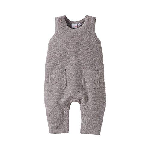 Bornino Strick-Strampler ohne Fuß - Baby-Overall mit Druckknöpfen im Schrittbereich & aufgesetzten Taschen - Einteiler aus Reiner Baumwolle Baby-jungen-tasche
