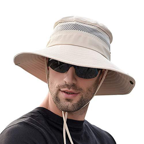 SIYWINA Sonnenhut Herren UV Schutz Safari Hut Sommer Buschhüte Outdoor Fischerhut