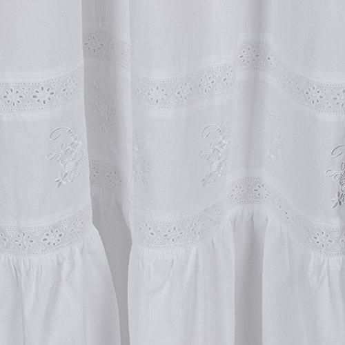 fürThe 1 for U 100% Baumwolle viktorianischer Stil Nachthemd mit Taschen - violett- XS - XXXL Weiß