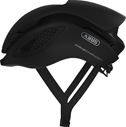 Abus Gamechanger Aero- Helm Fahrradhelm, Schwarz (velvet black), S (51-55 cm)