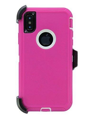 Handyhülle [M01] für iPhone X, rosa/weiß Lifeproof Belt Clip