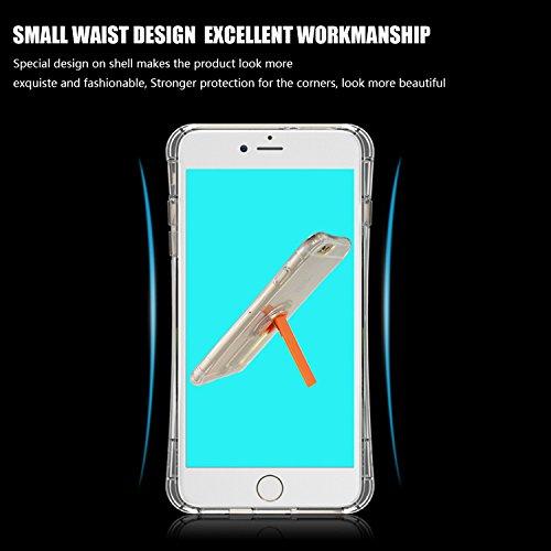 tinxi® Coque Apple iPhone 6 6s(4,7 Pouces) Coque de protection en silicone TPU pour iPhone 6 6s case cover housse étui coque Ultra mince Transparent avec motif Plumes Blanches (0,7mm) Transparent/Stand en Kaki