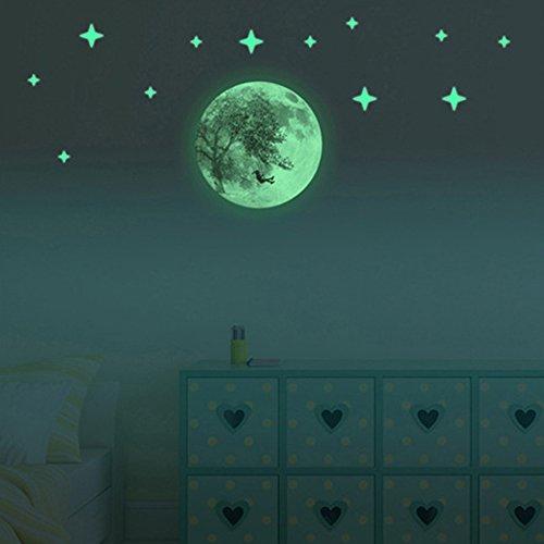 samtlan-creative-lumineux-lune-autocollants-murales-30cm-moonlight-autocollant-pvc-glow-dans-lobscur