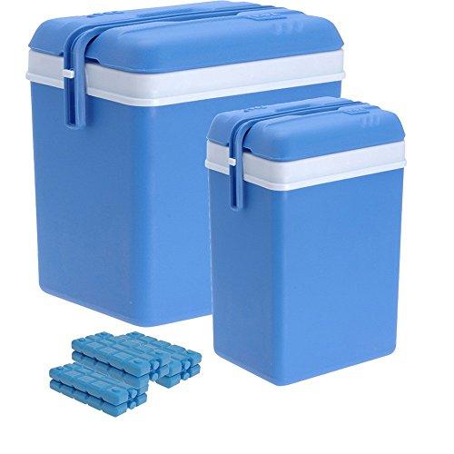 Kühlbox-Set aus großer (35 Liter) und kleiner (12 Liter) Kühlbox mit 6 Kühlakkus