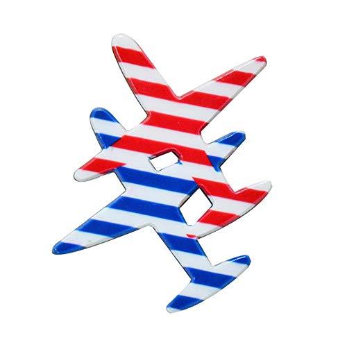 Schönes Haus Acryl Flugzeug Brosche Cartoon Abzeichen transparent Acryl Abzeichen Pin 3 Pack -