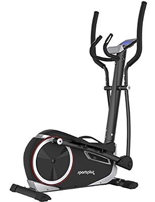 SportPlus Ergometer Crosstrainer mit App-Steuerung und Google Street View, Bluetooth Brustgurt kompatibel, Benutzergewicht bis 150 kg, 17 kg Schwungmasse, SP-ET-9600-iE