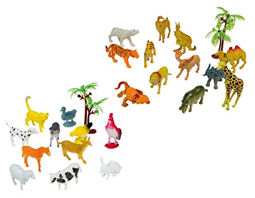 Tiere in Klarsichtröhre 3-6 cm groß NEU Bauernhof Happy People 43217